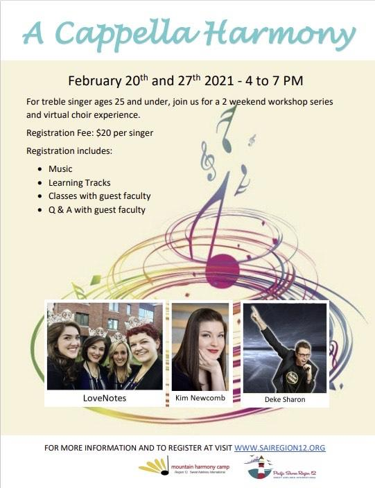 A Cappella Harmony -  A YWIH VIrtual Event